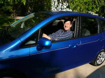 Honda Fit - Here is a picture of me in my new Honda Fit Hatchback.