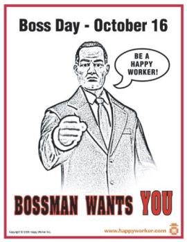 Boss Day - 16th October is Boss day
