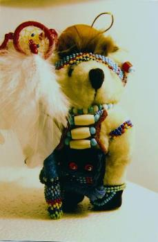 Swift Bear with Dreamcatcher Staff - photo of my teddy bear I make