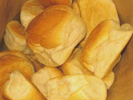 Pan de sal - FilipinoTraditional Bread - Pan de sal- Crispy and delicious dinner rolls from the Philippines. Most coomon way to eat it isby dipping it into a hot coffee or chocolate.