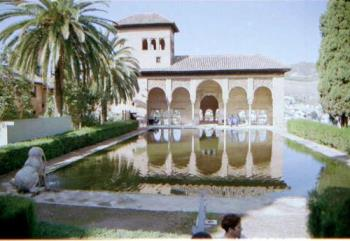 Alhambra Palace.  - This is a part of Alhambra Palace situated in Granada in the South of Spain.