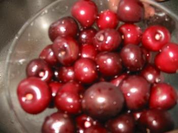 Cherry - Cherry fresh from garden.