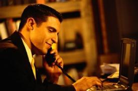 Man speaking on the phone - Speaking on phone