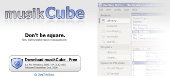 MusikCube - MusikCube Site Screenshot