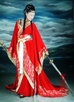 China like to wear hanfu which is the traditional dress of han chinese