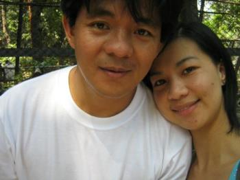 the bf and me - one sample of my loving the camera. This is taken a few months back when my bf and I were touring a close friend of mine in some of the sites here in Manila.