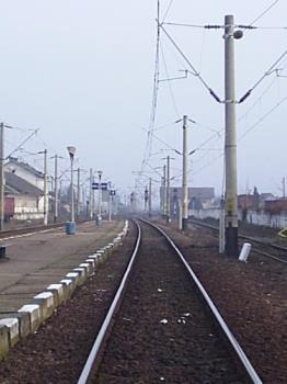 train tracks - waiting for the train in alba iulia