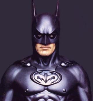 George Clooney as Batman - George Clooney's batusite.
