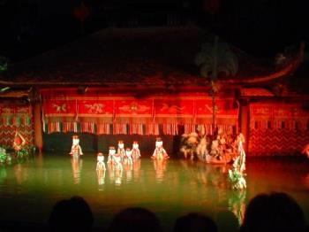 water puppet show - Famous, attractive and interesting water puppet show which I had seen in Vietnam.
