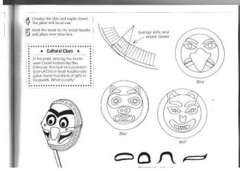 craft project - Here are some instructions to make face masks with a Native American theme.