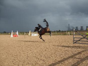 cloudy weather - cloudy weather photo I took in the uk at a horse show