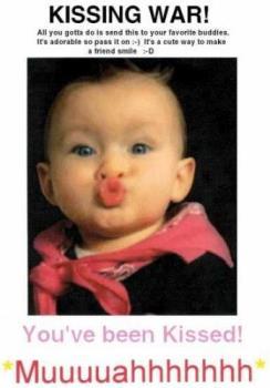 kiss - warm kiss makes my day beautiful and happy