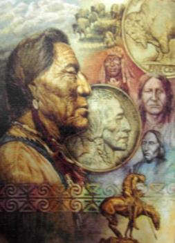 Four Fathers - This is a puzzle I completed. It is a photo of Native American Four Fathers.