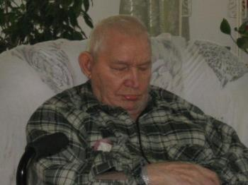 Dad - Sleeping in the rocking chair as usual