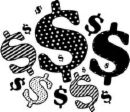 Dollar Signs - Money we can't afford.