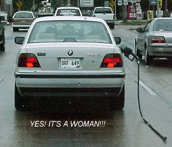it is a woman - I think man driver is better than woman driver.hehe..