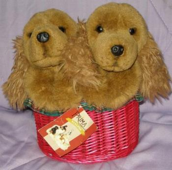 My toy dogs - My toy dogs in a basket....