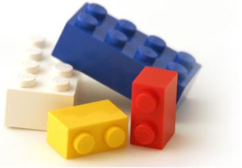 Image of colorful Legos - picture of legos toy building blocks