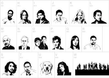 Lost characters - Losties in B&W