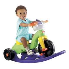 rocker2 trike - This is great for small children it will be good for them from the age 1-4 it helps them go from rocker stage to trike stage when they are ready and is good and sturdy and will outlast the use your child has for it even and could be used for the next child that comes along or given to someone or sold..