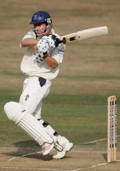Murray Goodwin - Former Zimbabwean and Current Sussex player, Murray Goodwin, playing a pull shot in a county game
