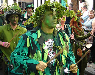Drummers... Jack in The Green Parade, Hastings - Drummers in the Jack in the Green Parade, Hastings, for May Day