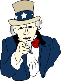 Uncle Sam - Uncle Sam, a figure symbolizing the United States, is portrayed as a tall, white-haired man with a goatee. He is often dressed in red, white, and blue, and wears a top hat.