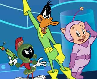 "Duck Dodgers - ""Duck Dodgers in the 24 1/2 century"", where the role of Duck Dodgers is played by Daffy Duck."