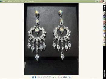 earrings - sparkly cubic zirconia earrings. dangling and elegant.