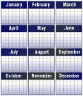 Calendar - A 12 month calendar