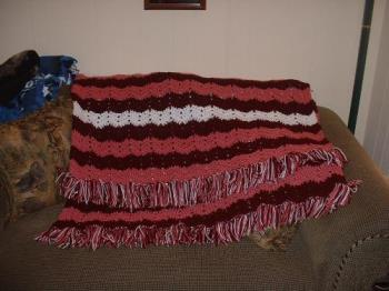 My Favorite Ripple Afghan - This is my most favorite pattern to use. I make an adult size with 2 strands of yarn and a large hook and the baby size with 3 ply yarn (one strand) and a much smaller hook.