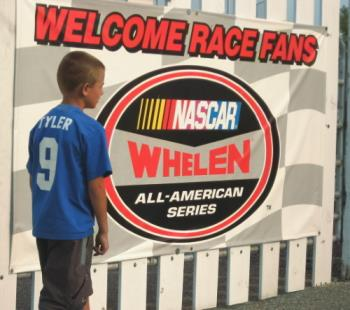 Waiting - Here is Tyler stioll awaiting the gates to open friday night for the races