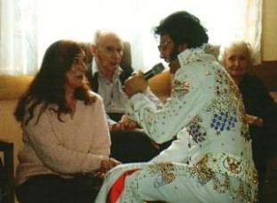 Elvis impersonator - Elvis impersonator at Nursing Home
