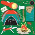 camping! - Clip art of some camping equipment