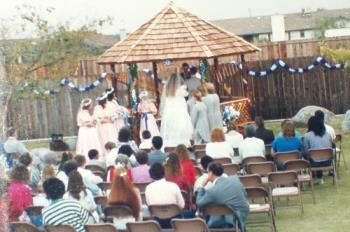 My Wedding Nov. 6, 1988 - I was married in the backyard of our house. It was a very big yard and we built a gazebo.
