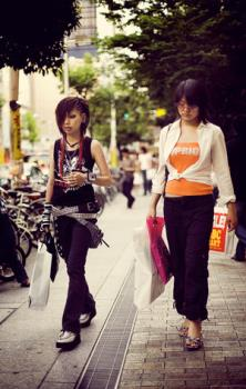 People - Pictures of young people walking the streets.