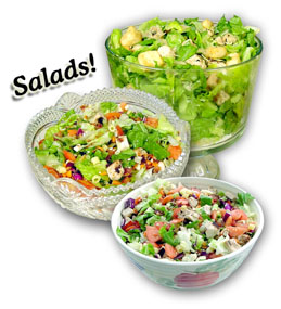 Salads are good for you too - Using different salad dressing keep your salads from tasting boring and the different ingredients, like bacon, hard boiled eggs, even the different types of lettuce you use can keep your salad exciting