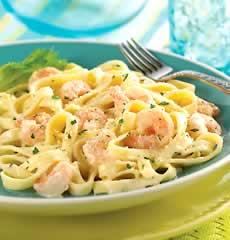 Seafood Fettuccini - a yummy plate of seafood fettuccini