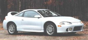 Mitsubishi Eclipse - Similar to the one I owned but mine was a bit more blinged out and had special rims etc. Ahh, the good ole days!