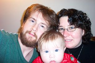 Me, hubby, and baby - My little family. =P