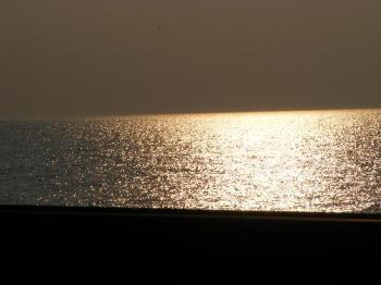 almost sun set by Ijsselmeer - taken near Enkhuizen on the road going through Ijsselmeer
