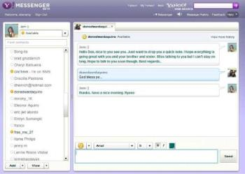 yahoo web messenger - A new messenger that let's you send and receive IM in our browser.