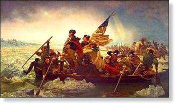 Washington Crosses the Delaware - American Revolution, Washington crossing the Delaware