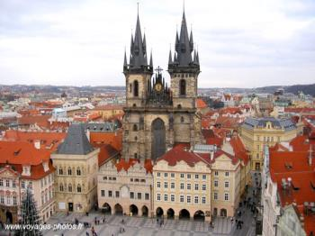Prague - The church of Our Lady before the Tyn