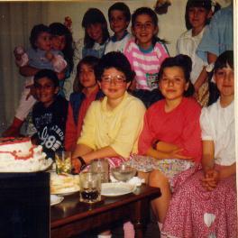 """80""""s - a picture of my 9th b'day the year is 1989 (I am at the back holding the todler)"""