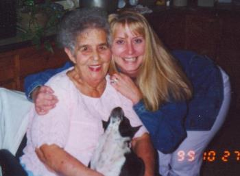 My Grandmother and I Before She Died - My grandmother and I, when I had long hair. It got longer before I cut it off, almost to my butt.