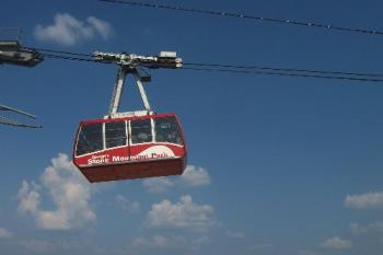 sky lift at Stone Mountain park - Picture of the sky lift at Stone Mountain Park, wher I met my husband.