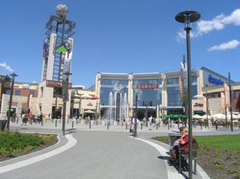 Arkadia in the daylight - This is a picture of shopping mall Arcadia in Warsaw, Poland. It is a fine place to spend your time and money in it:P