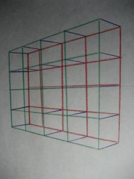 A grid for making letters in perspective - I like to draw letters in perspective, Using this grid helps me keep the letters sized correctly and prevents mistakes (I hope!)