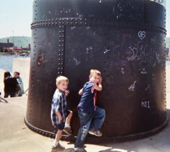 My Grandsons - This is from the Duluth Harbor in Duluth Minnesota taken last year and unposed.